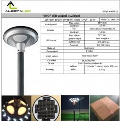 Zahradní Solarní LED světlo UFO