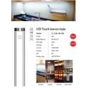 LED dotykové světlo  sensor  9W/680lm ,  White 600*40*9mm  2 ks