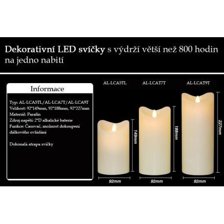 LED dekorativní svíčky
