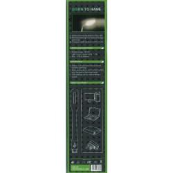 LED lampička USB černá